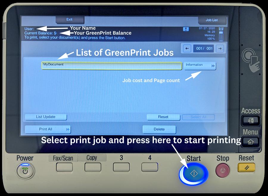 GreenPrint Screen